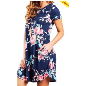 Floral dress with pockets - size medium